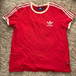Adidas original red tee